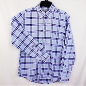Brooks Brothers 346 Men plaid casual shirt size M